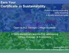 Certificate in Sustainability Flyer 3